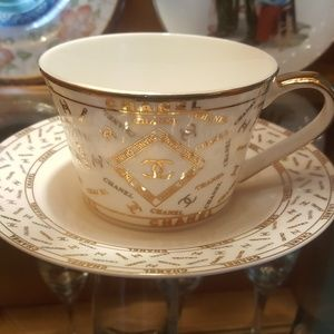 Authentic Chanel porcelain tea cup and saucer set